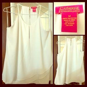 "Beautiful ""Catherine Malandrino"" white blouse 👚"